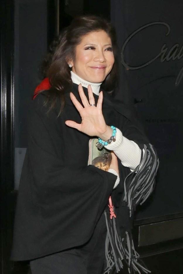 Julie Chen waved.