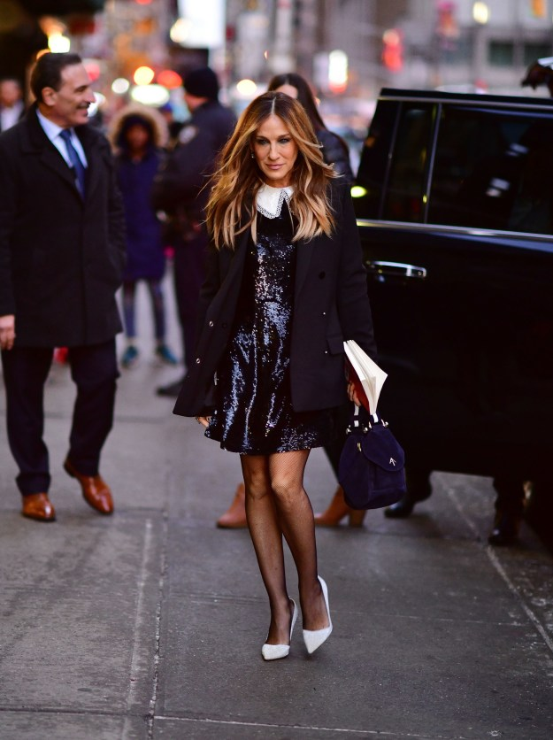 "Sarah Jessica Parker looked very ""Carrie"" out and about in NYC."