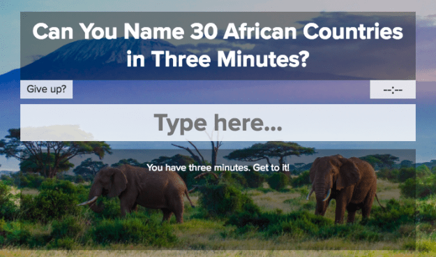 Can You Name 30 African Countries In Three Minutes?