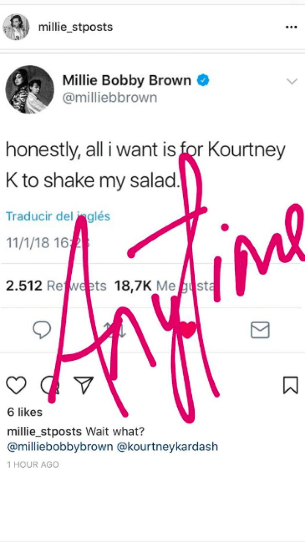 And then Kourtney herself confirmed the plans too, sharing this on her Instagram story.