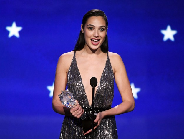 Gal Gadot accepted the #SeeHer award at the Critics' Choice Awards.