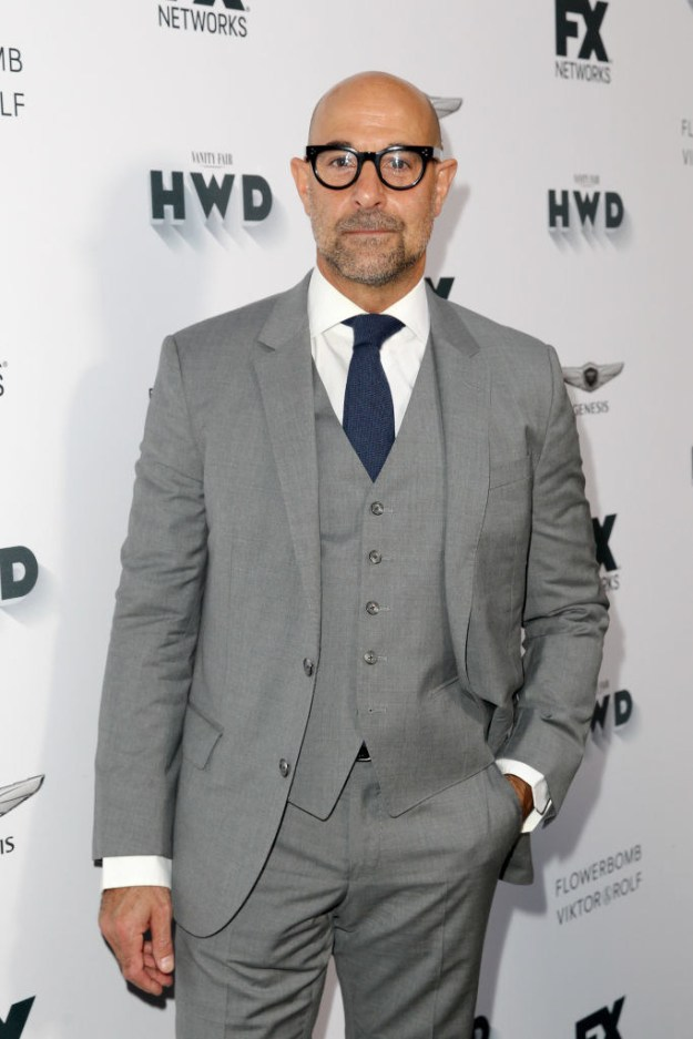 Stanley Tucci. YOU KNOW HIM. He is in everything! Edit: he is the BEST in everything.