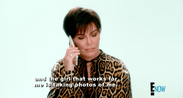 On last night's episode of KUWTK, an upset Kylie called her mom and revealed that she had caught one of her employees taking photos of her while in her home.