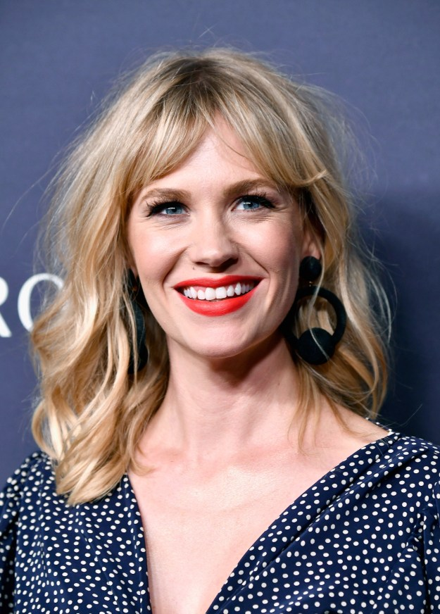Well, last night Page Six reported that he's dating actress January Jones (of Mad Men and that very important scene in Love Actually fame).