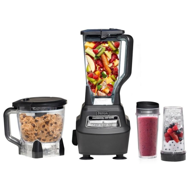 This kitchen system comes with a 1500-watt base, an eight-cup food processor bowl, a 72-ounce pitcher, and two 16-ounce to-go cups with lids. P.S. It also has a 4.4 out of 5 rating and over 1,000 reviews on Amazon! —Meg M.Get it from Walmart for $159.99 or from Jet for $195.97.