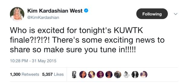 Kim Kardashian with Saint West, 2015