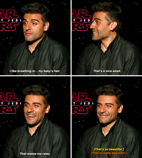 And an even more wholesome answer when he was talking about what relaxes him.