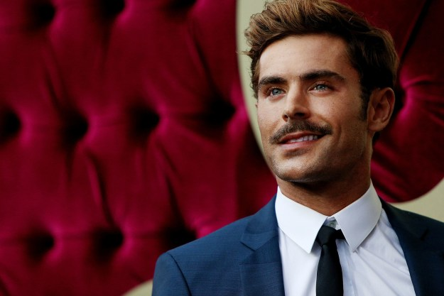 Zac Efron unveiled his new 'stache.