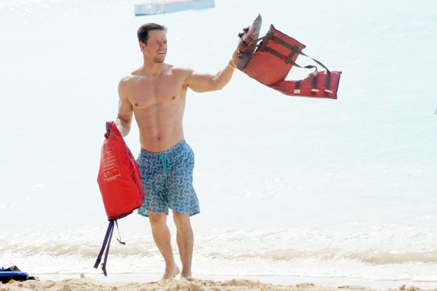 Mark Wahlberg made sure everyone was safe at the beach.