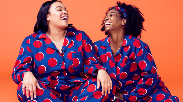 Meanwhile, Sheridan and Shanique took comfort to another level when they tried on these super-cute and comfy polka-dot pajamas.