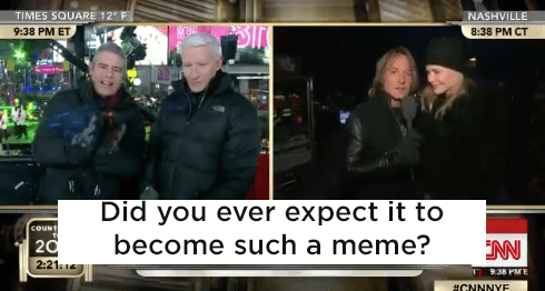 Andy asked her if she ever expected it to become such a huge meme.