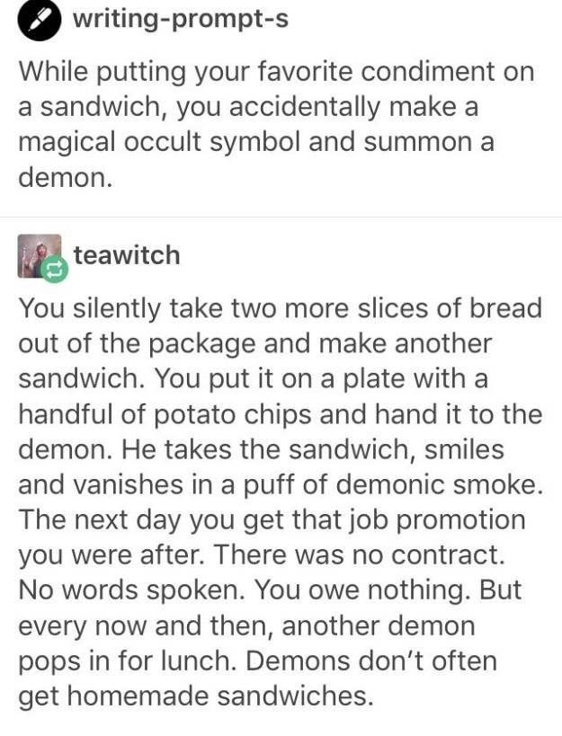 The story of the hungry demon.