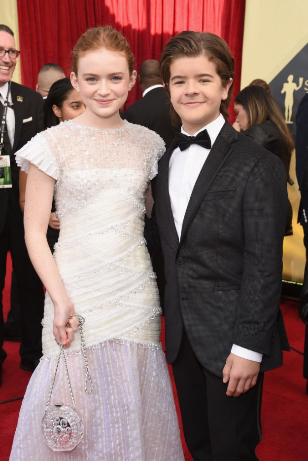 The costars also took a moment to pose together.