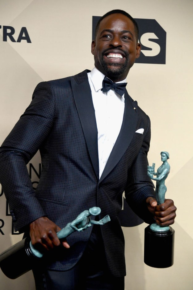 But the accolades didn't stop there. He later won a second award, along with his entire cast, for Outstanding Performance by an Ensemble in a Drama Series.