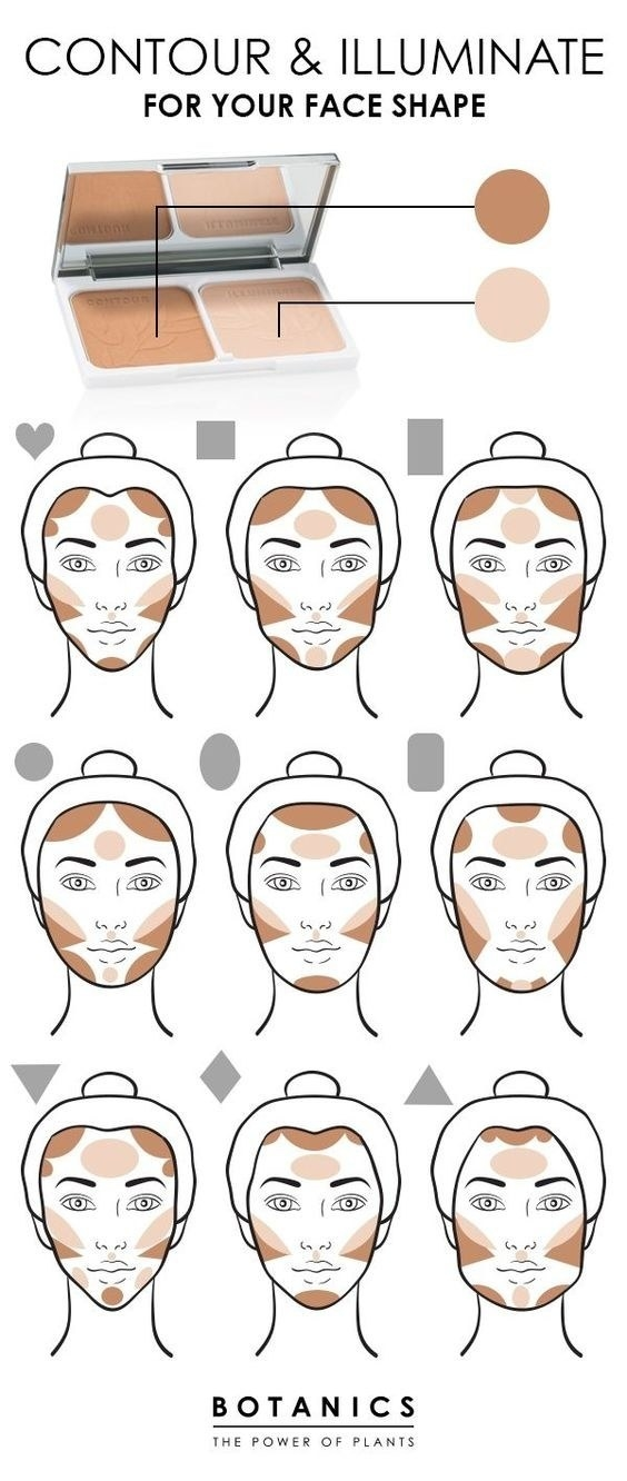 Play around with different ways to contour for your face shape.