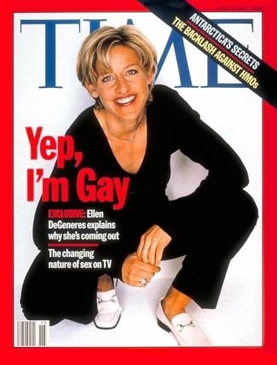 Like, way back before it was public knowledge that Ellen is gay.