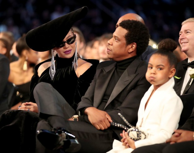 And because they're the definition of music royalty, Beyoncé, Jay-Z, and their daughter Blue Ivy Carter were there too.