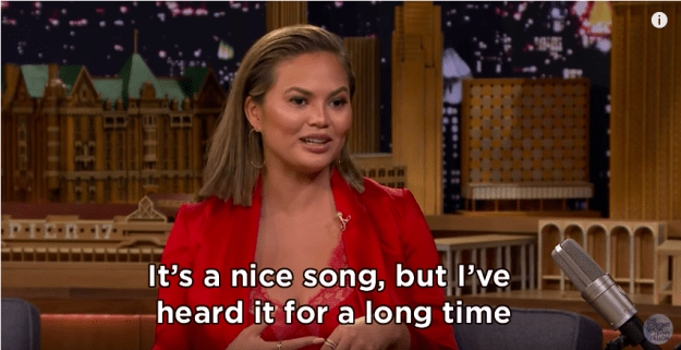 However, Chrissy has revealed that the novelty of the song has slightly worn off now she's heard it constantly for seven years.