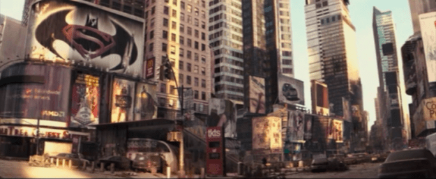 A poster for Batman v Superman can be seen in I Am Legend.