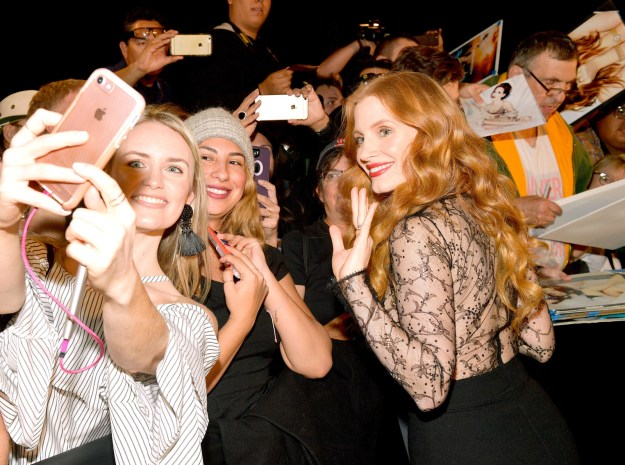 Jessica Chastain signed autographs.