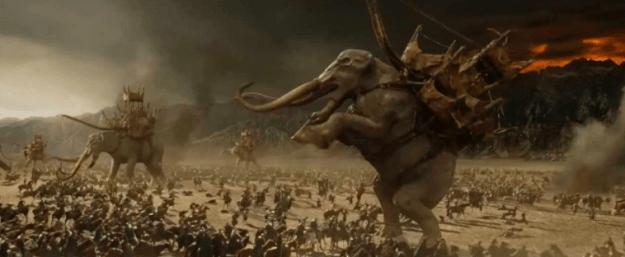 You see a total of 836 dead bodies in the extended cut of Lord of the Rings: Return of the King.