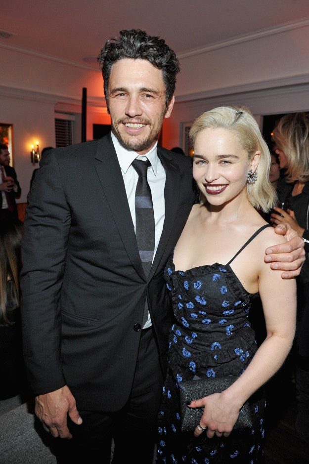 James Franco and Emilia Clarke partied at the Chateau Marmont.
