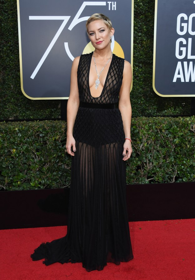Or this plunge neck Valentino gown worn by Kate Hudson.