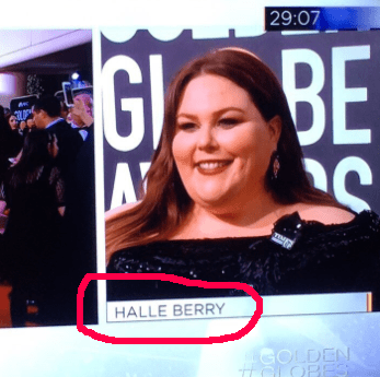 "Chrissy Metz was labeled as ""Halle Berry."""