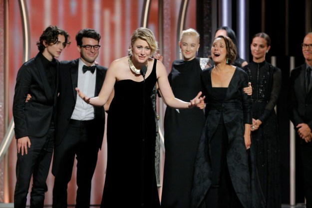 And he still got to go on stage when his other nominated film, Lady Bird, won for Best Picture (Musical or Comedy).