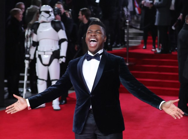 When he embraced the epicness of the Star Wars: The Last Jedi premiere:
