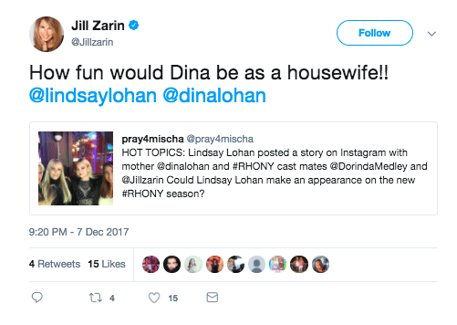 Daughter of Dina Lohan on the Real Housewives franchise: