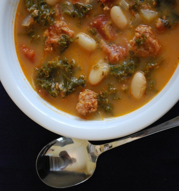Kale, White Bean, and Chorizo Soup