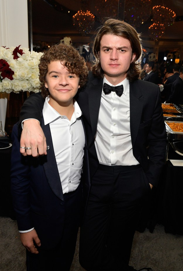 Stranger Things actors Gaten Matarazzo and Joe Keery looked suave as hell in their suits.