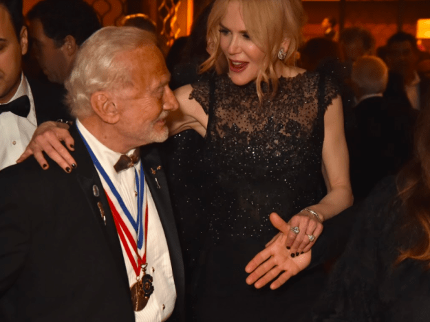 Nicole Kidman chatted to Buzz Aldrin.