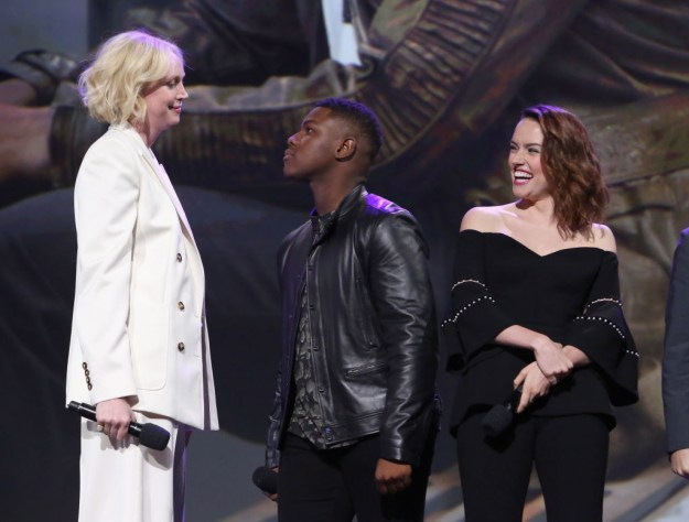 When he adorably stared down Gwendoline Christie: