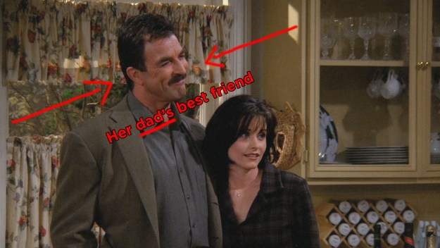 The fact that Richard knew Monica when she was a child and still thought it was okay to date her.
