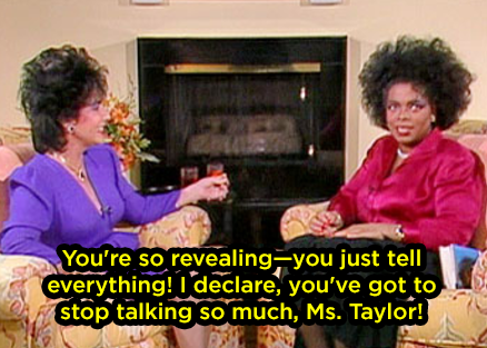 When she sarcastically called out Elizabeth Taylor for being difficult to interview: