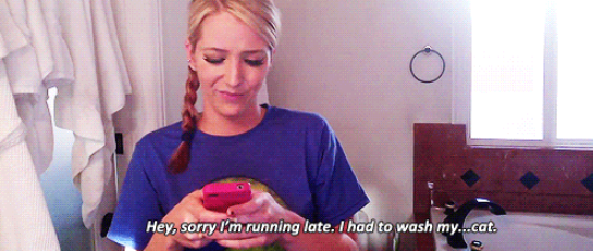 Being late for pretty much everything.