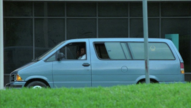 The medical examiner's van carrying Versace's body left Jackson Memorial Hospital on July 15.