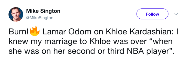 When Lamar Odom gave an interview in which he said this about his marriage to Khloé Kardashian.