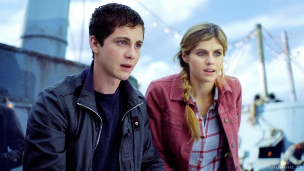 Percy Jackson and Annabeth Chase from Percy Jackson & the Olympians by Rick Riordan