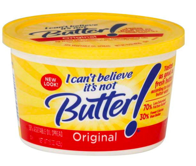 Even tubs of I Can't Believe It's Not Butter! were masquerading as Tupperware.