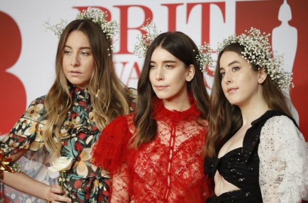 You probably know the girlband Haim. They're pretty great, and they also attended the Brit Awards tonight.