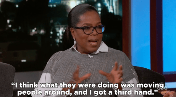 Talking about how it happened, Oprah said she thinks the confusion occurred during the editing of the photo, when they were moving people around.