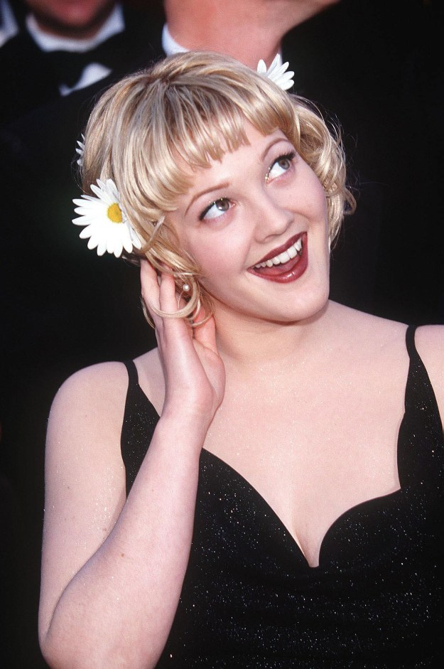 Drew Barrymore at the Academy Awards:
