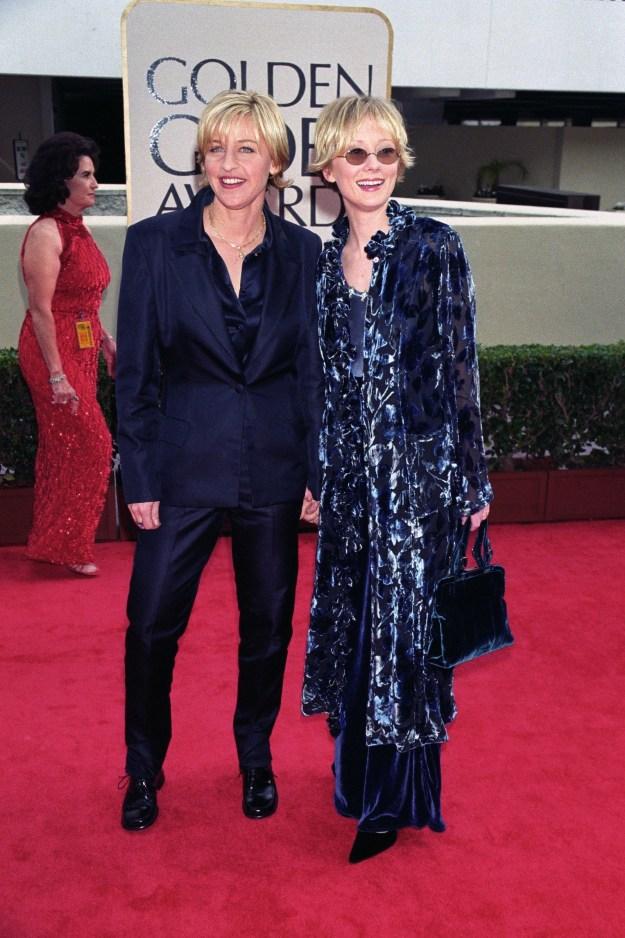 Ellen DeGeneres and Anne Heche at the Golden Globes:
