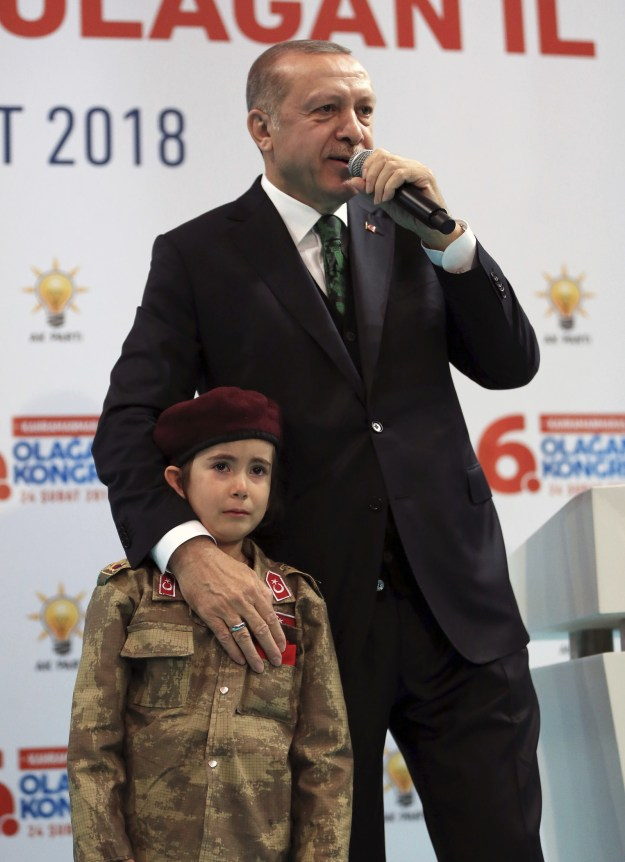 """But then he got extremely dark for talking about a 6-year-old: """"Her Turkish flag is in her pocket. If she becomes a martyr, she will be covered with it, God willing. She is ready for everything, isn't she?"""""""