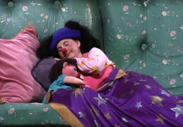 And The Big Comfy Couch reminded you to always get a good nights rest.