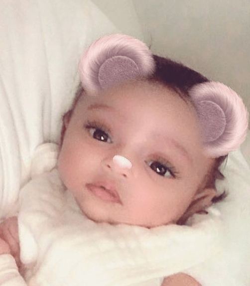 Even though there's a Snapchat filter on her, you can tell she is clearly one of the cutest babies ever.