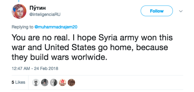 But pro-Assad and pro-Russia Twitter accounts are currently smearing Najem as a fake.